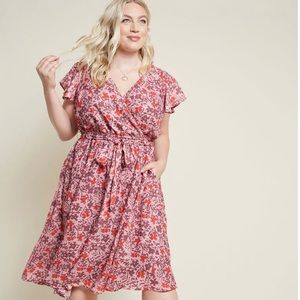 ModCloth Floral Dress